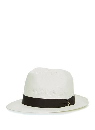 Doria Doria  Kontrast Bant Detaylı Erkek Şapka 101646500 Beyaz